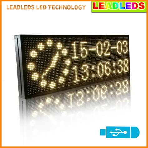 Led Display Board 30 quot x11 quot indoor programmable scrolling message led sign led display board for business and