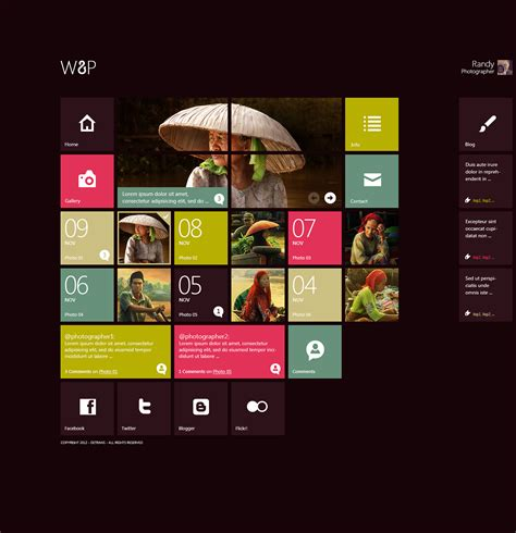 web design block layout w8p wordpress theme by detrans on deviantart