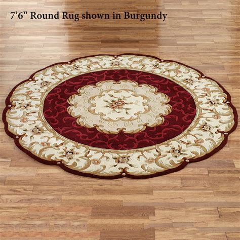 round accent rugs evaline wool aubusson round area rugs