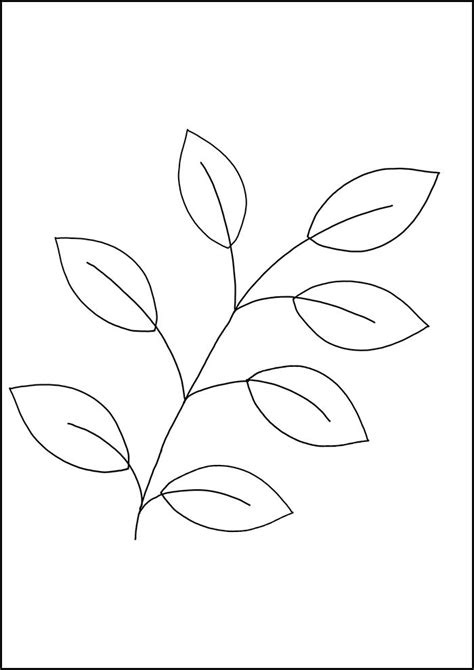 leaf template printable leaf templates free premium