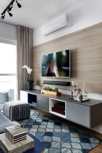 Living Room Ideas With Tv On Wall - top 70 best tv wall ideas living room television designs