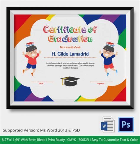 20 graduation certificates psd word