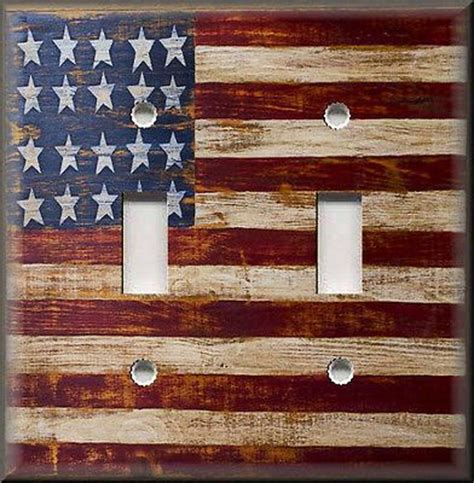rustic american flag wall art tipsdesainkuclub home light switch plate cover rustic primitive american flag