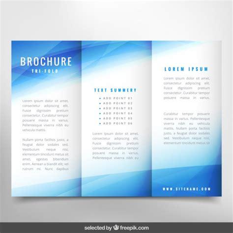 leaflet design ai blue wavy brochure vector free download
