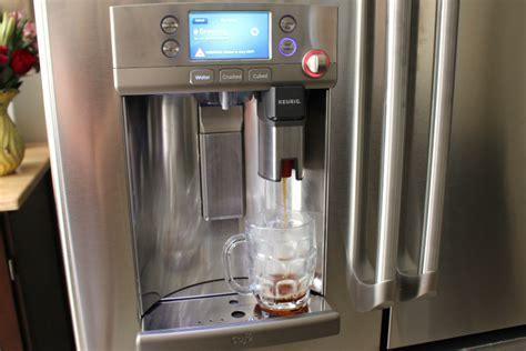 GE Café refrigerator with a Keurig Brewing System   Family Fresh Meals