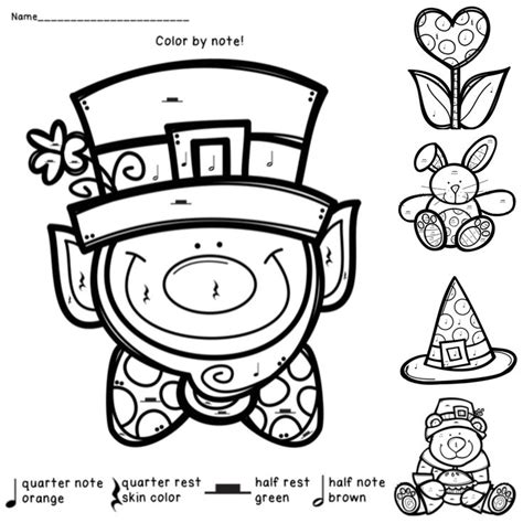 holiday music coloring pages 1000 images about color by note worksheets on pinterest