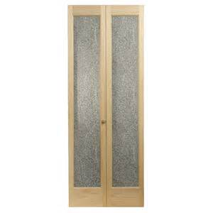 Bi Fold Doors Closet by Shop Pinecroft 1 Lite Solid Pine Bifold Closet Door
