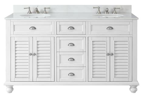 Vanity Sizing Stores by 62 Quot White Cottage Glennville Bathroom Sink Vanity Gd 21333