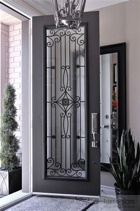Exterior Door Glass Inserts Wrought Iron Inserts By Lussoglass