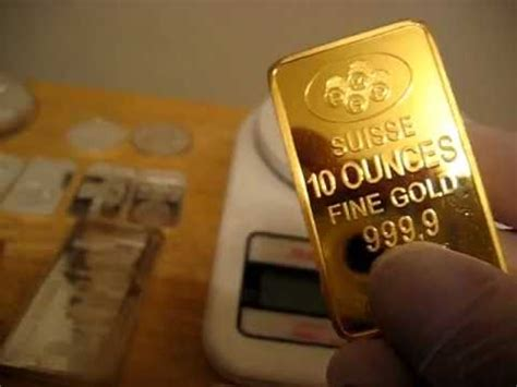 10 Troy Ounces Of Silver In Grams - weighing my 10 troy ounce gold suisse p