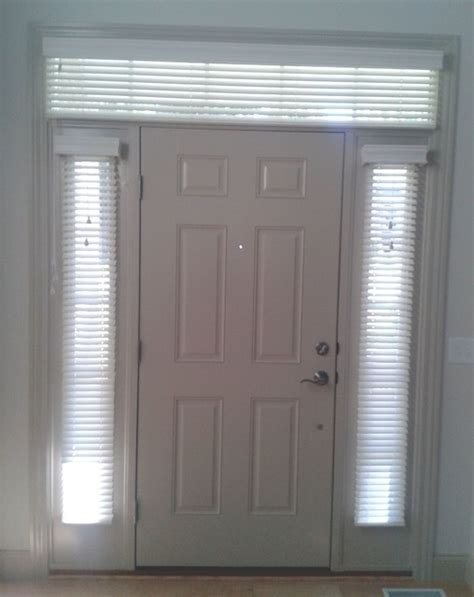 Front Door Window Shades Sidelight Window Treatments With Transom Traditional Window Blinds Other Metro By
