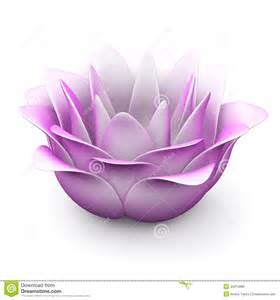3d Lotus Flower Pink Lotus Flower 3d Stock Illustration Image 43474886