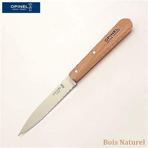 couteau opinel cuisine crant 233 opinel couteau de cuisine couteau a dent pour