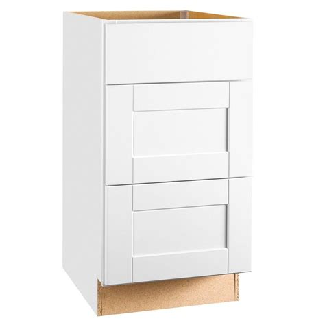 Cabinet Door Glides Hton Bay Shaker Assembled 18x34 5x24 In Drawer Base Kitchen Cabinet With Bearing Drawer