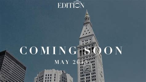 the new york edition photo gallery ian schrager s new york edition hotel sets may 14 opening