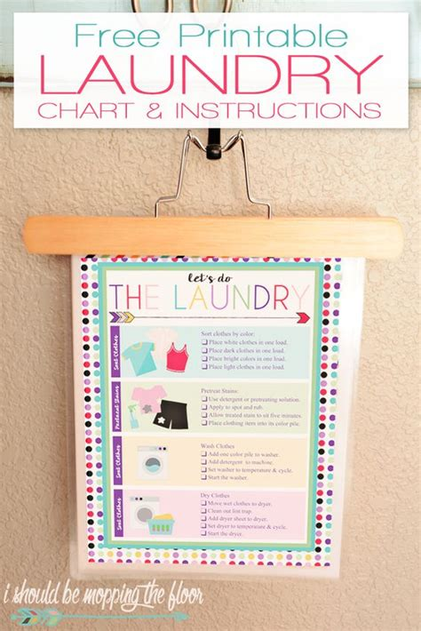 printable laundry directions free printable laundry chart kid charts and free printable