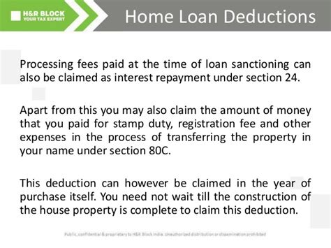tax deduction for housing loan home loan and tax deductions in india