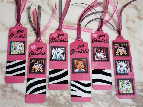 printable monster high bookmarks monster high bookmarks party favors made with the pti
