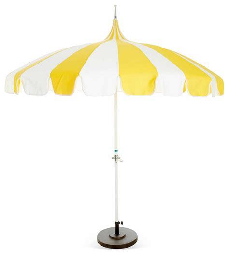 Pagoda Patio Umbrella, Yellow   Contemporary   Outdoor