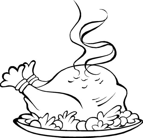 coloring page of thanksgiving dinner dinner plate coloring pages