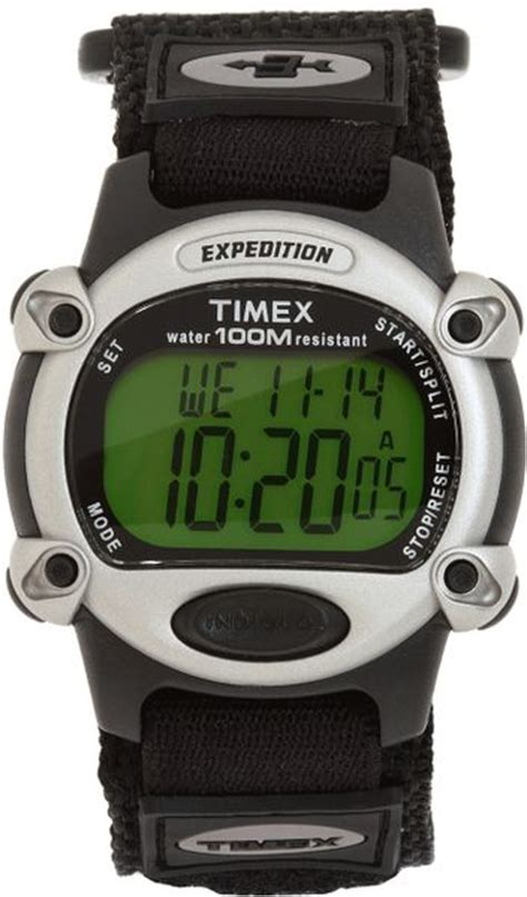 Expedition E6381 Rantai Silver Black 1 timex 174 expedition chrono alarm timer in black black silver lyst