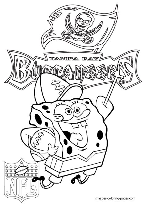 ta bay bucs free colouring pages