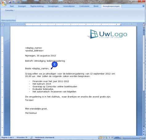 Brief In Word Handleiding 187 Conscribo