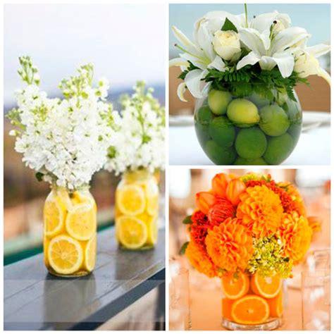 28 centros de mesa floreros y macetas para hacer con - Como Decorar Jarrones De Vidrio Con Frutas