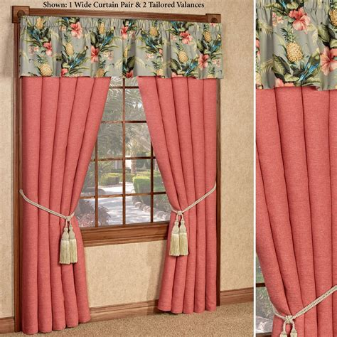 tropical window curtains polly island tropical window treatment