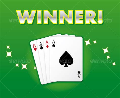 Card Winner winning casino style card suite all aces