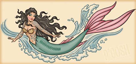 old school mermaid tattoo designs portfolio detail p gosh