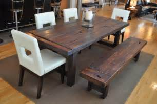 Dining Room Tables With Benches And Chairs by The Clayton Dining Table Eclectic Dining Room
