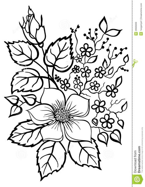 flower background coloring page flower bouquet outline clipart clipart panda free