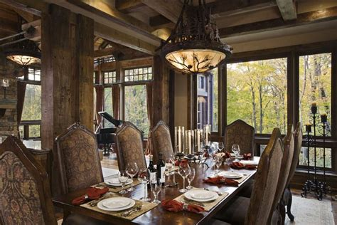 western dining room rustic house design in western style ontario residence