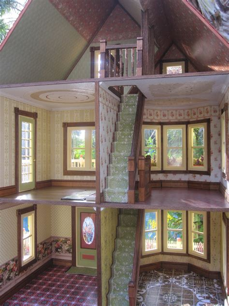 dollhouses  robin carey  gothic victorian dollhouse