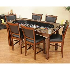 costco kitchen table turns into a poker table and craps