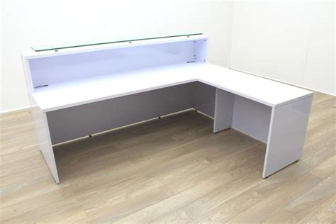 Gloss White Reception Desk New Cancelled Order Gloss White Office Reception Desk Counter Ebay