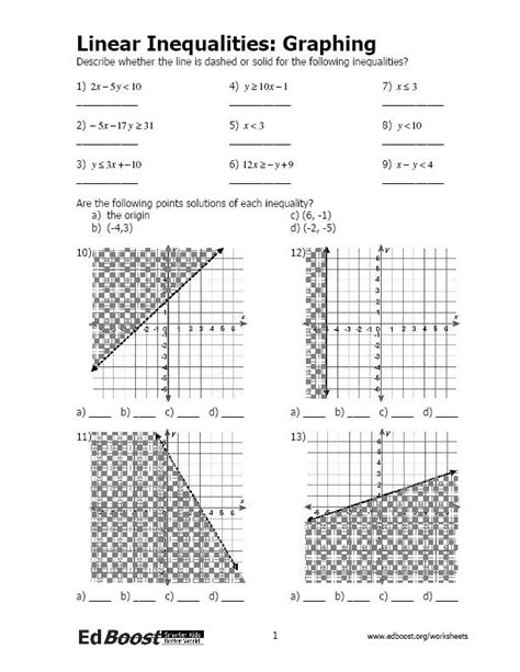 Graphing Linear Equations Worksheet Pdf by Related Keywords Suggestions For Inequalities Test Pdf