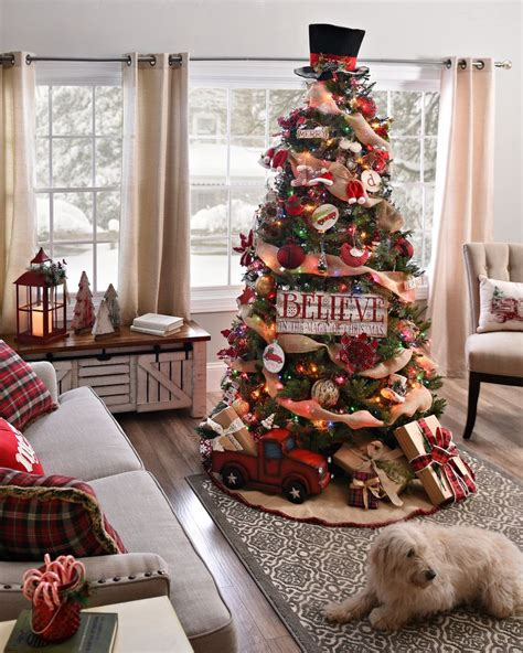 Ordinary 4 Foot Slim Christmas Tree #2: Country-cottage-christmas-decor.jpg
