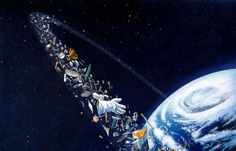 Earth Wall Mural una red para pescar basura espacial apuntes e ideas