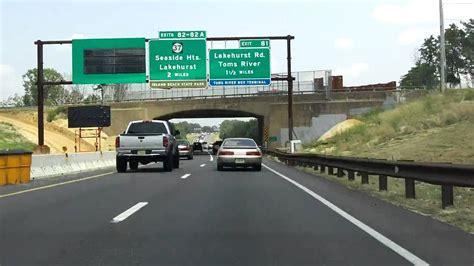 garden state parkway exits 80 to 88 northbound