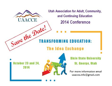 conference save the date template uaacce annual conference