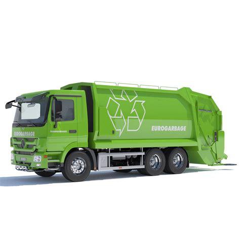 new truck models new mercedes actros garbage truck 3d model max obj 3ds fbx