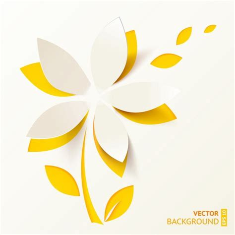 Paper Cutting Flowers Crafts - paper cut flower vector background vector background