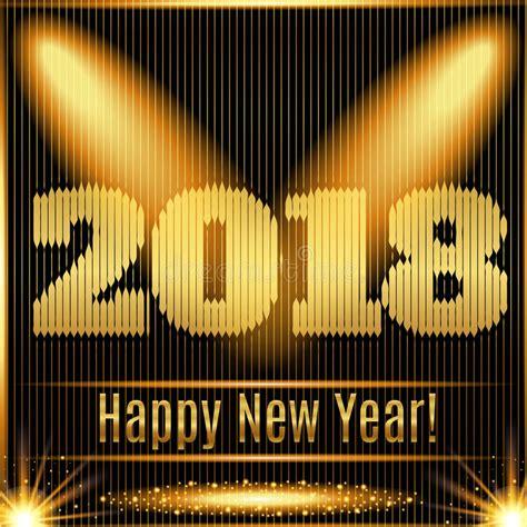glowing 2018 happy new year 2018 happy new year glowing gold background stock vector