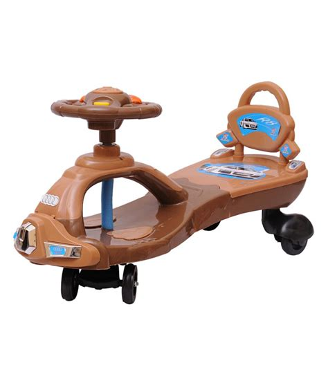 magic swing car happy kids magic swing car with lights and music brown