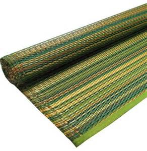 green stripe outdoor plastic rug