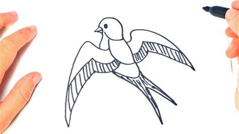 dibujo de golondrina para colorear dibujos de animales como dibujar un golondrina paso a paso dibujo facil de
