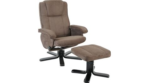 fauteuil relax avec pouf microfibre gris fauteuil relax