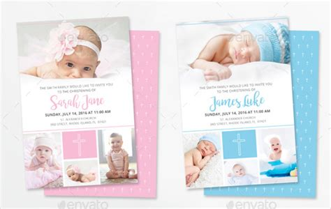 Template For Baptism Invitation Free
